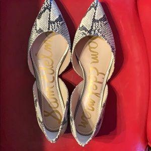 Sam Edelman flat snake print shoes size 11